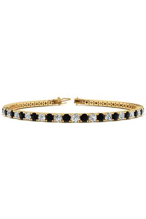 SuperJeweler 9 Inch 5 Carat Black & White Diamond Men's Tennis Bracelet in 14K (12.1 g), J/K