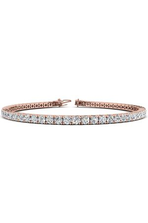 SuperJeweler 8.5 Inch 14K Rose 4 3/4 Carat Diamond Men's Tennis Bracelet, J/K