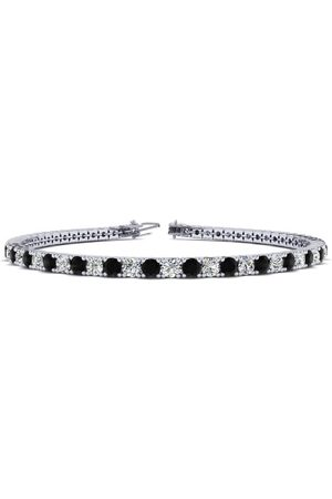 SuperJeweler 7.5 Inch 4 1/4 Carat Black & Diamond Men's Tennis Bracelet in 14K (10.1 g), J/K