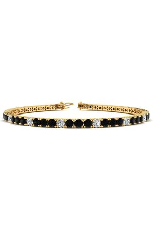 SuperJeweler 8 Inch 4 1/2 Carat Black & White Diamond Alternating Men's Tennis Bracelet in 14K (10.7 g), J/K