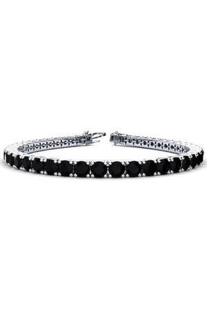 SuperJeweler 8 Inch 10 1/2 Carat Black Diamond Men's Tennis Bracelet in 14K (13.7 g)