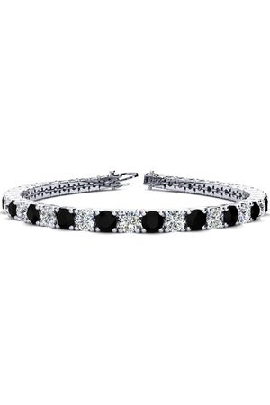 SuperJeweler 9 Inch 11 3/4 Carat Black & Diamond Men's Tennis Bracelet in 14K (15.4 g), I/J