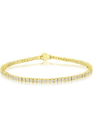 SuperJeweler 7.5 Inch 2.10 Carat Diamond Men's Tennis Bracelet in 14K , I/J