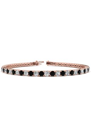 SuperJeweler 7.5 Inch 4 1/4 Carat Black & White Diamond Men's Tennis Bracelet in 14K Rose (10.1 g), J/K