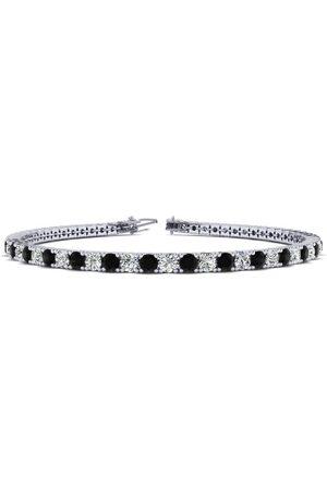 SuperJeweler 9 Inch 5 Carat Black & Diamond Men's Tennis Bracelet in 14K (12.1 g), J/K