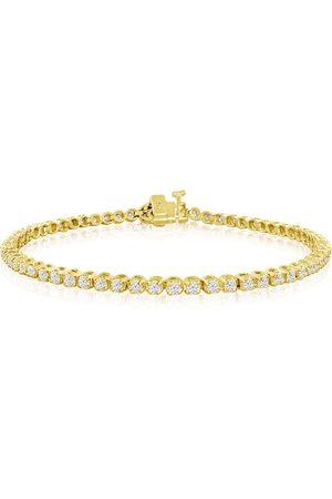 SuperJeweler 8 Inch, 2 1/4 Carat Diamond Men's Tennis Bracelet in 14K YG, I/J