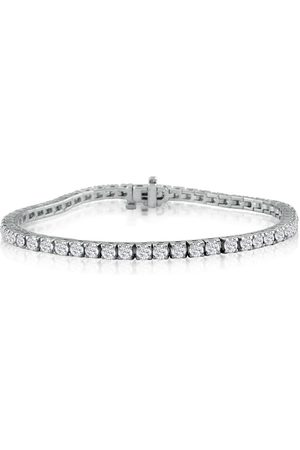 """SuperJeweler 6 Carat Diamond Men's Tennis Bracelet in 14K (13 g) - 8.5"""", J/K, 8.5 Inch"""