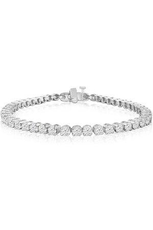 SuperJeweler 9 Inch, 6 1/4 Carat Diamond Men's Tennis Bracelet in 14K (17.1 g), I/J