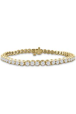SuperJeweler 9 Inch, 3 3/4 Carat Diamond Men's Tennis Bracelet in 14K YG, I/J