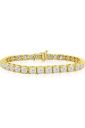 SuperJeweler 9 Inch 14K (17 g) 14 1/2 Carat TDW Round Diamond Men's Tennis Bracelet (J-K, I2-I3)