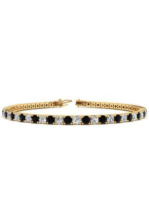 SuperJeweler 7.5 Inch 4 1/4 Carat Black & White Diamond Men's Tennis Bracelet in 14K (10.1 g), J/K