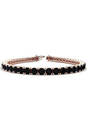 SuperJeweler 8.5 Inch 11 1/5 Carat Black Diamond Men's Tennis Bracelet in 14K Rose (14.6 g)