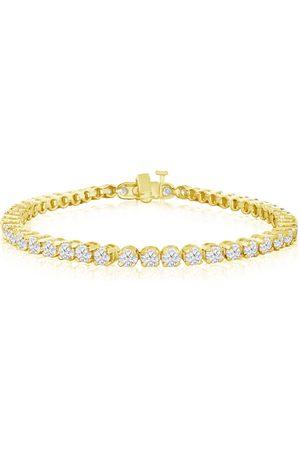 SuperJeweler 8 Inch, 5 3/4 Carat Diamond Men's Tennis Bracelet in 14K YG, I/J