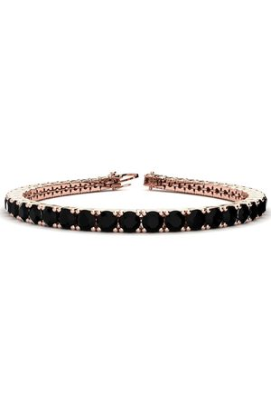 SuperJeweler 7.5 Inch 9 3/4 Carat Black Diamond Men's Tennis Bracelet in 14K Rose (12.9 g)