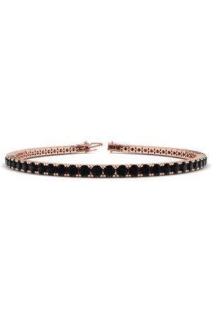 SuperJeweler 7.5 Inch 4 1/4 Carat Black Diamond Men's Tennis Bracelet in 14K Rose (10.1 g)