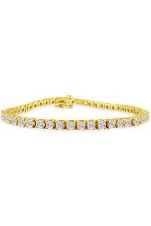 SuperJeweler 8.5 Inch 14K (13.6 g) 6 1/4 Carat Diamond Men's Tennis Bracelet, J/K
