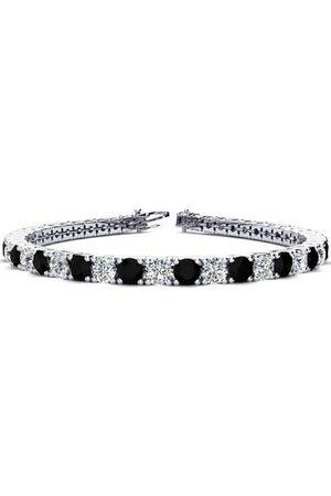 SuperJeweler 8.5 Inch 11 1/5 Carat Black & Diamond Men's Tennis Bracelet in 14K (14.6 g), I/J