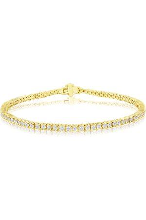 SuperJeweler 8 Inch, 2.30 Carat Diamond Men's Tennis Bracelet in 14K (9.2 g), J/K