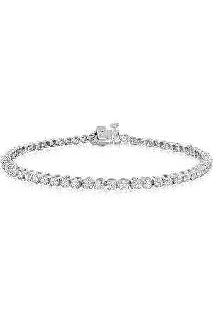 SuperJeweler 8 Inch, 2 1/4 Carat Diamond Men's Tennis Bracelet in 14K (10.2 g), I/J