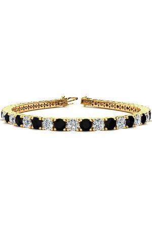 SuperJeweler 7.5 Inch 9 3/4 Carat Black & White Diamond Men's Tennis Bracelet in 14K (12.9 g), I/J