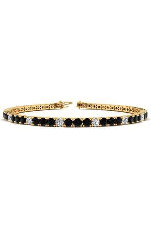 SuperJeweler 8.5 Inch 4 3/4 Carat Black & White Diamond Alternating Men's Tennis Bracelet in 14K (11.4 g), J/K