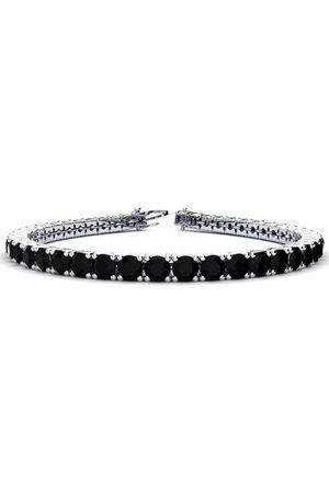 SuperJeweler 8.5 Inch 11 1/5 Carat Black Diamond Men's Tennis Bracelet in 14K (14.6 g)