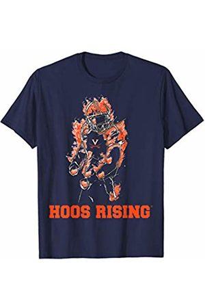 FanPrint Virginia Cavaliers Football - Fire Player - Team T-Shirt