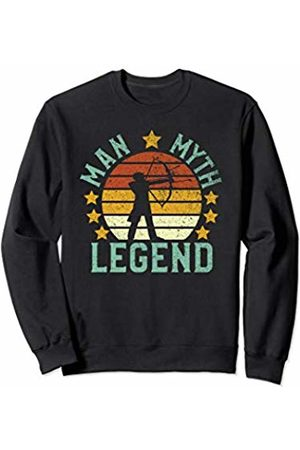 Parabolic Dad Archery Man Myth Legend | Vintage Bow and Arrow Hunter Gift Sweatshirt