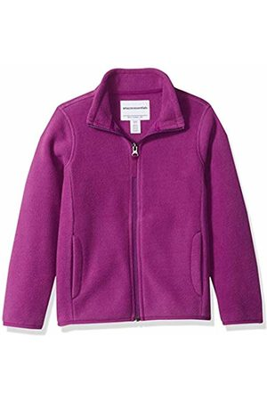 Amazon Girl's Full-zip Polar Fleece Jacket Plum