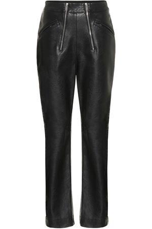 Stella McCartney High-rise faux leather pants