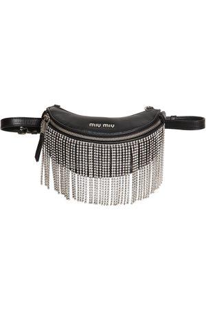 Miu Miu Starlight Crystals & Leather Belt Bag