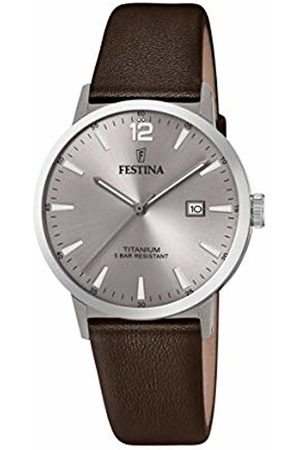 Festina Mens Analogue Quartz Watch with Leather Strap F20471/2