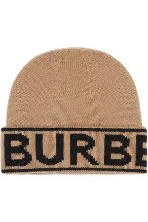 Burberry Logo intarsia beanie - Neutrals