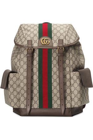 Gucci Monogram pattern backpack - Neutrals