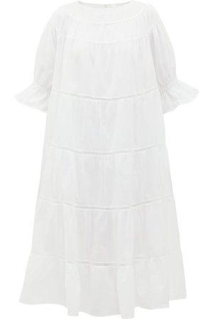 MERLETTE Paradis Tiered Cotton Midi Dress - Womens
