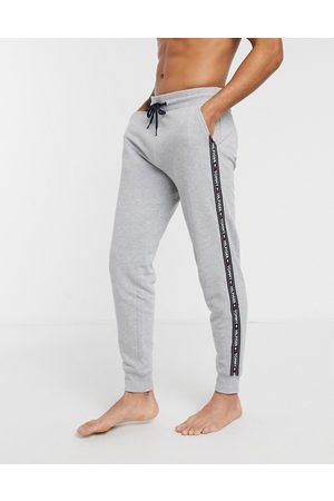 Tommy Hilfiger Authentic cuffed lounge joggers side logo taping in marl