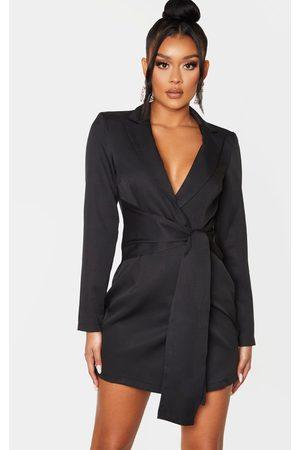 PRETTYLITTLETHING Wrap Detail Blazer Dress