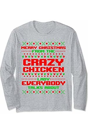Ugly Christmas Tees by K Funny Ugly Christmas Chicken Lady Mom Farmer Gift Women Her Long Sleeve T-Shirt