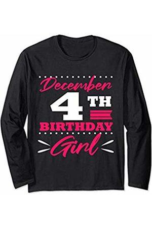 Birthday Tees by K December 4th Birthday Gift Girls Women Sagittarius Present Long Sleeve T-Shirt