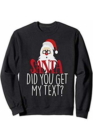 Santa Claus Christmas Tees NYC Santa Did You Get My Text Christmas Shirt Cute Holiday Kids Sweatshirt