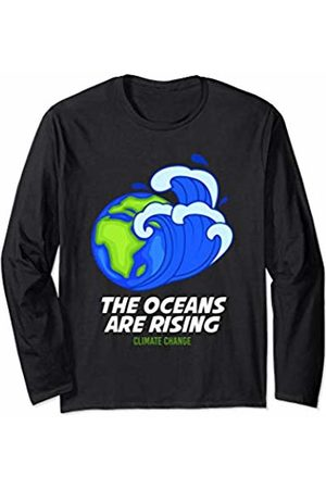 Climate Change Earth Day 2020 Apparel and Gifts Climate Change Earth Day Gifts Men Women Oceans Are Rising Long Sleeve T-Shirt