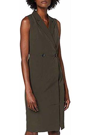 Dorothy Perkins Women's Khaki Wrap Tux Dress Party