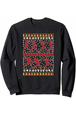 Ugly Christmas Tee Kaboom! Softball Ugly Christmas Funny Holiday Sports Girls Xmas Gift Sweatshirt