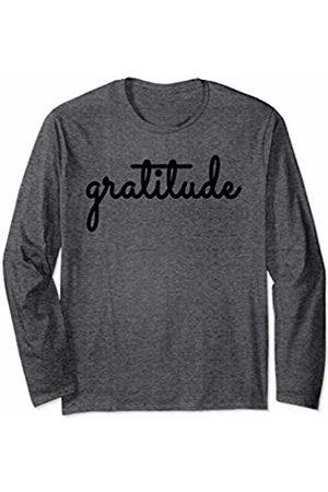 Gratitude Grateful Blessed Thankful Appreciation Womens Tee Long Sleeve T-Shirt