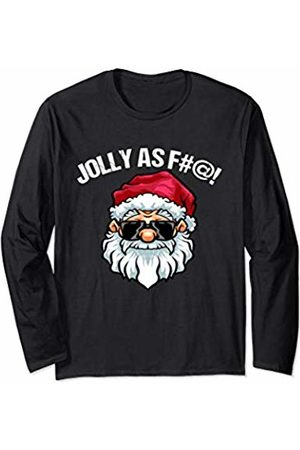 IMPURITEEZ Funny Adult Christmas design Men Women Jolly As Fuck Long Sleeve T-Shirt