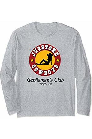Inside Out Designs Jugstore Cowboys Funny Gentlemen's Club Adult Humor Parody Long Sleeve T-Shirt