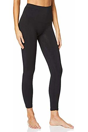 Anaissa Women's Legging Altos Casual O para El Gym, (Negro Negro)