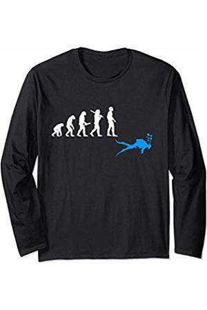 Sweet Scuba Diving T Shirts Funny Scuba Diving Gift Dive Evolution of Man to Scuba Diver Long Sleeve T-Shirt