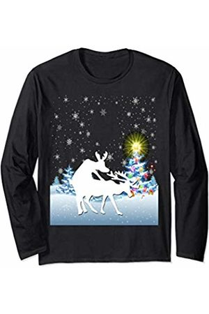 Reindeer Humping Christmas Adult Party Gift Humping Reindeer Christmas Funny Adult Humour Long Sleeve T-Shirt