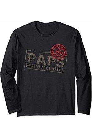 Graphic 365 Paps Grandpa Vintage EST 2020 Men Gift Long Sleeve T-Shirt